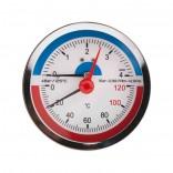 Термоманометр задн. подкл. SD Plus 1/2 Ø80мм 120ºC 4 бар (SD1734B)