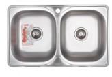 Мойка кухонная ZERIX Z7848D-08-180MD DOUBLE (micro decor) (ZS0579)