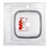 Мойка кухонная ZERIX Z6060R-08-180MD (MICRO DECOR) (ZS0591)
