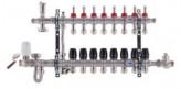 """Коллектор со встроенным смесит. узлом KOER KR.S1011-8 1""""х8 SUS304 и евроконусами 3/4-16 (KR2931)"""