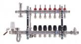 """Коллектор со встроенным смесит. узлом KOER KR.S1011-7 1""""х7 SUS304 и евроконусами 3/4-16 (KR2930)"""