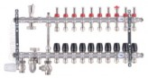 """Коллектор со встроенным смесит. узлом KOER KR.S1012-10 1""""х10 SUS304 и евроконусами 3/4-16 (KR2943)"""