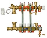 Коллектор водяного теплого пола Giacomini R557FY007 (7 контуров)
