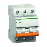 Автоматический выключатель ВА63 3П 6A C (Домовой)