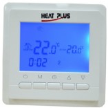 Heat Plus Терморегулятор для теплого пола Heat Plus BHT-306 white